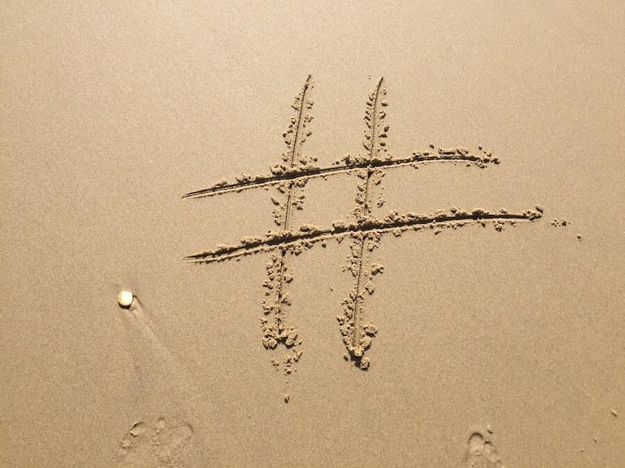 simbolo hashtag